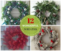Beautiful seasonal wreath ideas!