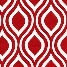 Henry Glass Retro Fabric CRUZIN/' Silhouettes on Red-yards