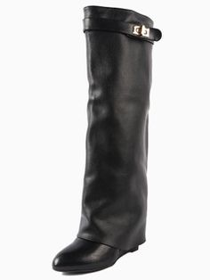 Shop Leather Wedge Knee Boots from choies.com .Free shipping Worldwide.