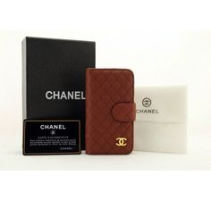 Chanel iPhone 5 Cases - Leather Case for iPhone 5/5s/4/4s/ Galaxy S4/Note2/Note3 - Free Shipping Luxury Cases