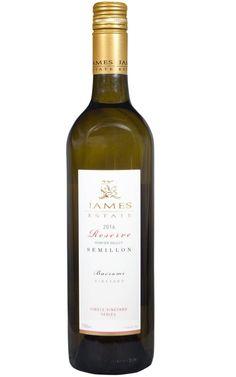 James Estate Reserve Semillon 2016 Hunter Valley - 6 Bottles Tropical Fruits, Orange Blossom, Lemon Grass, White Wine, Whiskey Bottle, Wines, Bottles, Beverages, White Wines
