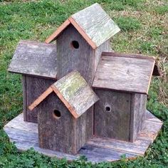 have made a few of these using old fence boards; they work great!