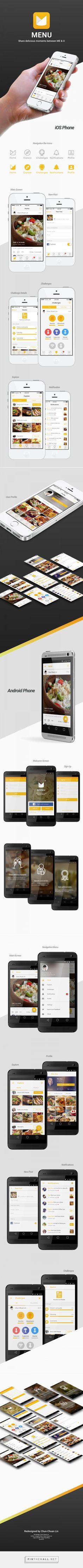 #iphone_app_design #android_app_design #material_design_app #cooking_app #social_app #productivity_app #gallery_app #clean_app_design #light_background_app_design #image_list_screen_design #image_grid_screen_design