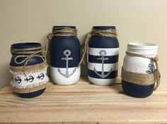 Items similar to Anchor theme jars on Etsy: