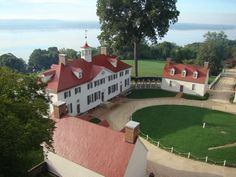 Mount Vernon, the home of George & Martha Washington.