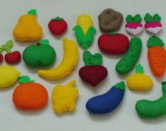 Felt Fruits and Vegetables Felt food vegetables Felt fruit