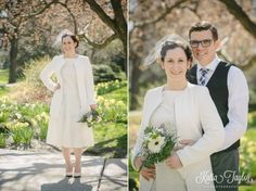 Toronto City Hall Wedding - Elegant and simple springtime portraits at Osgoode Hall.
