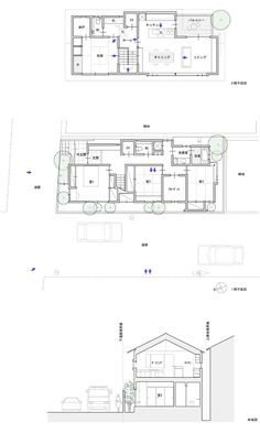 吉井の家 Japan Bathroom, Craftsman Floor Plans, Minimalist Bathroom Design, Floor Plan Drawing, Duplex House, Japan Design, Japanese House, Small House Plans, Design Case