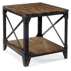Magnussen T1755 Pinebrook Wood Rectangular End Table