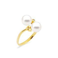 Δαχτυλίδι με μαργαριτάρια και διαμάντια σε χρυσό Κ18 - M317395 Ένα μοναδικό  δαχτυλίδι από 18 καράτια f414dec76c1