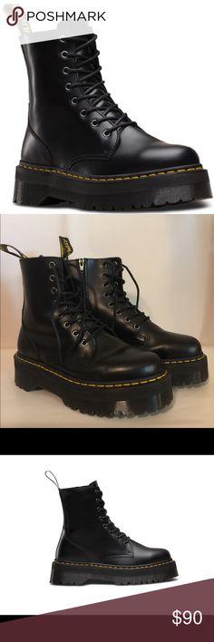 492ef158003 Dr Martens Jadon Platform Boot EUC. Worn twice. Polished smooth Black  leather. Inside