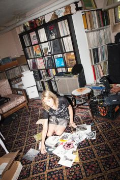 Kim Gordon in her Record Room