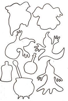 Resultado de imagen de patrones para hacer calabazas de halloween