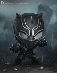 HeroChan — Chibi Black Panther Created by Surasak Jaipuk Ms Marvel, Chibi Marvel, Mundo Marvel, Marvel Dc Comics, Marvel Heroes, Marvel Avengers, Avengers Series, Black Panther Marvel, Black Panther Art