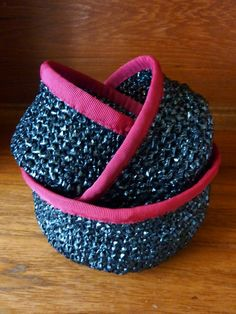 Bowls made from recycled video tapes - what a good idea saves them from going to landfill