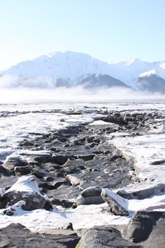 Turnagain Arm ice.  Near Anchorage, Alaska.