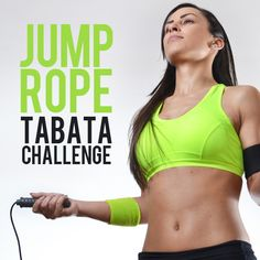 Jump Rope Tabata Challenge These are not only jump roping exercises, but a Tabata challenge, combining one of the best cardiovascular exercises with one of the greatest fitness models out there. 7 Workout, 4 Minute Workout, Jump Rope Workout, Tabata Workouts, Workout Challenge, Workout Routines, Workout Exercises, Body Workouts, Boxing Workout