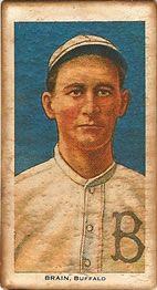 1909-11 The American Tobacco Company T206 White Border #NNO Dave Brain Front