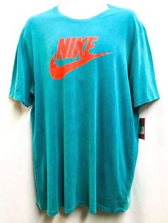 NIKE Tee Solstice Futura Athletic Cut Short Sleeved T Shirt XL Rio Teal 871771 #Nike #TShirt