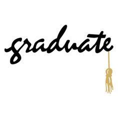 Silhouette Design Store: graduate phrase