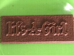 """It's a girl"" chocolate bar"