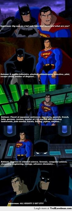 Why I like batman more than superman - Troll Level Max http://trolllevelmax.com/troll/6109/?new=1