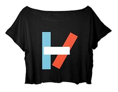 Women's Crop Tee Duo Musical Shirt 21 Pilots FREE SHIPPING