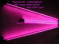Santas Tools and Toys Workshop: Automotive Parts and Accessories: Pink Underbody LED (wide angle - 180 degrees) Kits for Cars and Trucks 2x 4 foot rods and 2x 3 foot rods