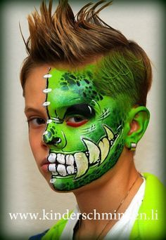 monster face painting ideas for kids