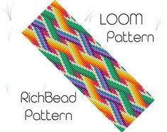 Colorful pride beaded loom bracelet pattern PDF seed bead