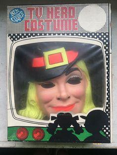 Vtg 1970 BEN COOPER TV Hero Witch BEWITCHED Samatha Stevens Original Box #BenCooper #Halloween Halloween Masks, Witch, Hero, Skirt, The Originals, Tv, Easy, Television Set, Witches