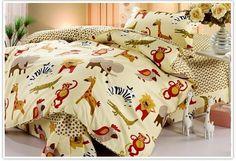 girlsbeddingplus.com - African Safari Cartoon Animal 3PC Bed Set, NZD $120.00 (http://www.girlsbeddingplus.com/african-safari-cartoon-animal-3pc-bed-set-kids-bedding/)