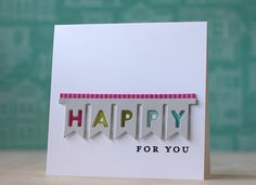 Happy For You Card by Laura Bassen for Papertrey Ink (November 2013)
