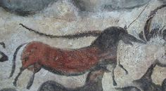 Lascaux cave art in southwestern France, (the unicorn is on the left), this is some of the most well known Upper Paleolithic art and dates back to around 14,000 BC. This is a section of around 2000 animal representations in this cave, some of which include horses too.