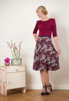 """Kleid """"Luzia"""" mit Tellerrock  von Jekyll und Kleid auf DaWanda.com"""