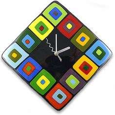 stacked square clock
