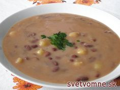 Fazuľová polievka na sladkokyslo Vegan Recipes, Cooking Recipes, Good Food, Yummy Food, Healthy Food, Modern Food, Czech Recipes, Food 52, Picky Eaters