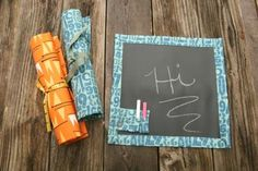 Simple Yes, Easy NO: Fabric Roll-up Chalk Board Tutorial