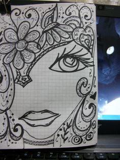 1000 images about doodling on pinterest face art art for Doodle art faces