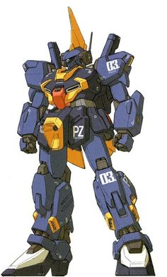 RMS-154 Barzam is a mass produced general purpose mobile suit. It was featured in Mobile Suit Zeta Gundam and the photo-novel Advance of Zeta: The Flag of Titans. Front