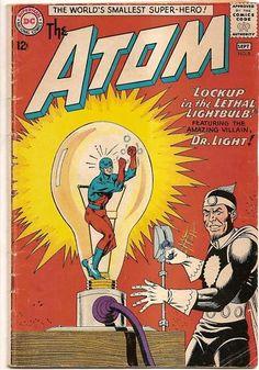 SILVER AGE 1963 The ATOM # 8 DC Comic JLA APPEARANCE!!
