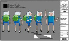 Model sheet for Finn with rims - Adventure Time