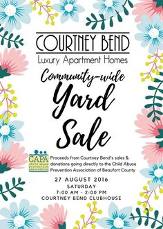 HUGE community wide YARD SALE happening next Saturday August 27th!!! Stop by and…