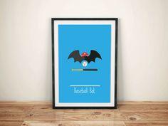 Affiche Humour Minimaliste, Poster Humour Minimaliste, Baseball Bat, Coupe…