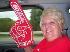 """Robin Riegner shared this """"special picture of my mother at the Phillies game. This a special memory because my mom is so much fun. She is not only my loving mother,a grandmother and great grandmother but she is my best friend. Many many laughs with her and I hoping to share many more Phillies games with her. Thanks for always being an inspiration mom! Photo is of LaRue Sheetz"""" Phillies Game, My Best Friend, Best Friends, Special Pictures, My Mom, Robin, Thankful, Memories, Games"""