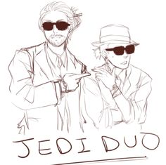 Jedi duo: Qui-Gon and Obi-Wan by elestreheart on Tumblr | May The Swag Be With You! XD