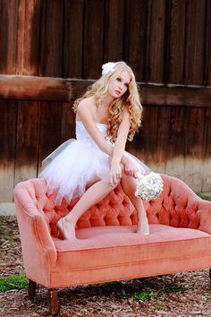 Flower Hair Clip White Silk Organza Wedding by TheLittleWhiteDress, $28.00