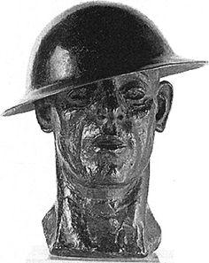 Jacob Epstein English, 1880-1959    The Tin Hat, c. 1916