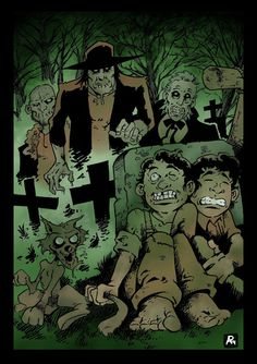 CAIDO DE UN PERAL - Cómic e Ilustración: Tom, Huck y zombis