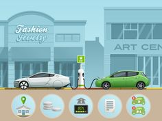 Electric car - infographic element #2